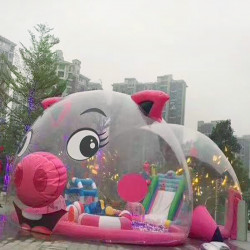 粉红猪充气城堡